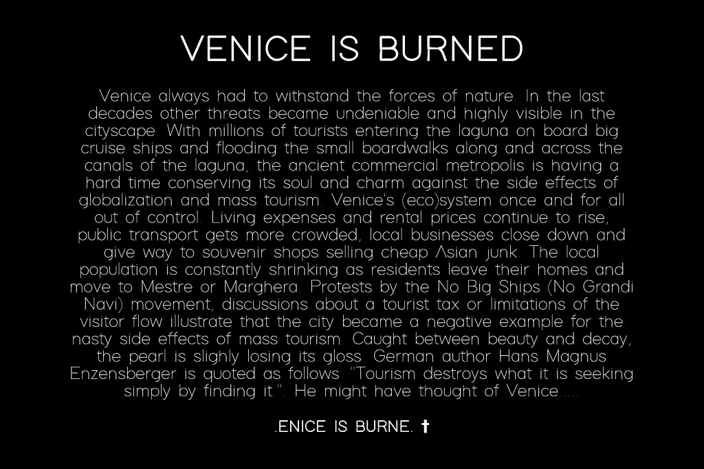 .ENICE IS BURNE.